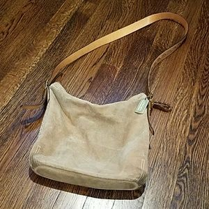 Authentic Suede Coach Bag